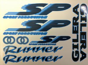Gilera Runner SP Sticker Decal Set FX FXR 125 172 180 183 OLYMPIC BLUE & BLACK